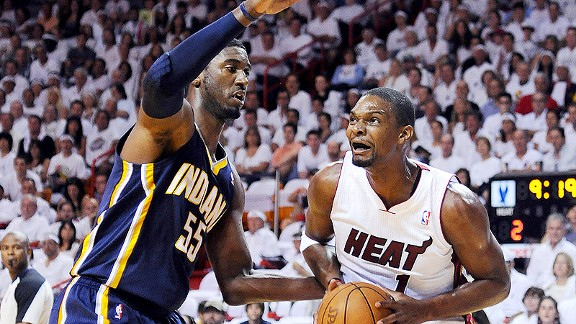Heat Overcome Chris Bosh Injury, beat Pacers In Game 1