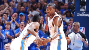 James Harden and Kevin Durant