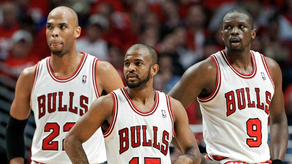 Taj Gibson, John Lucas III, Luol Deng