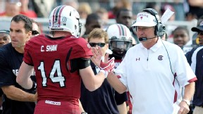 Steve Spurrier and Connor Shaw