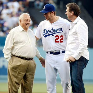 Hershiser, Kershaw, Lasorda