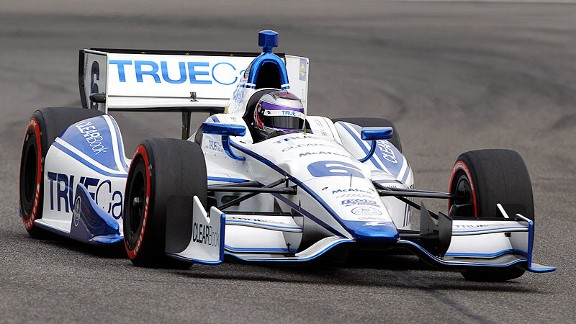 Sponsorship money is tough to come by; IndyCar driver Katherine Legge had  few full-time possibilities for this year, other than TrueCar.