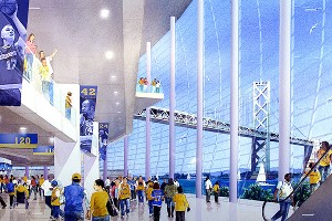 new waterfront basketball arena in San Francisco