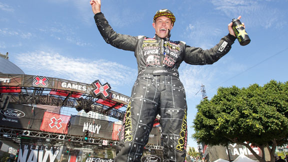 X Games RallyCross gold medalist Brian Deegan is among DVS's sponsored athletes.