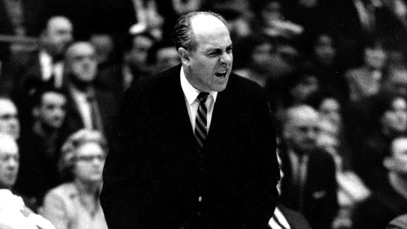Red Auerbach coaching the Boston Celtics