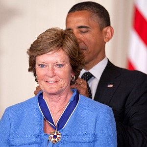 Barack Obama and Pat Summitt