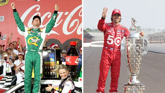 Kasey Kahne and Dario Franchitti