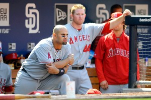 Albert Pujols and Mark Trumbo