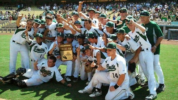 Bonita HS baseball celebrating thier CIF-SS Division 3 title.