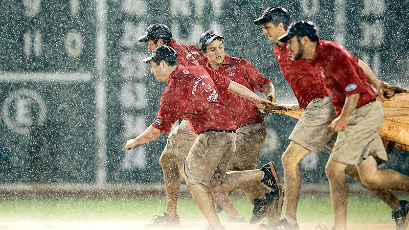 Boston Red Sox grounds crew