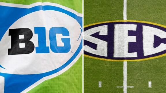 Big 10 logo, SEC logo
