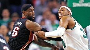 LeBron James and Paul Pierce