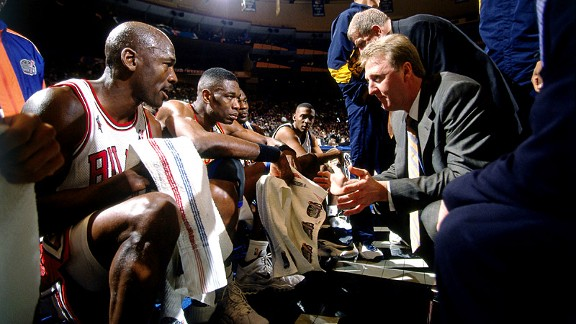 Larry Bird and Michael Jordan