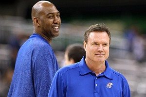 Danny Manning and Bill Self