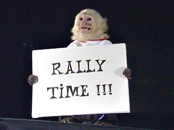 Rally Monkey and the 2002 Anaheim Angels