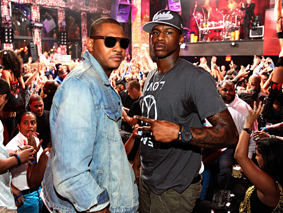 Carmelo Anthony and Al Harrington