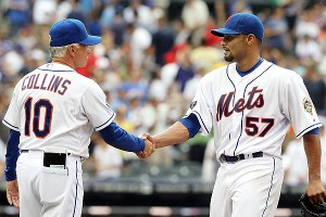 Johan Santana and Terry Collins