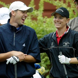 Annika Sorenstam and Sergio Garcia