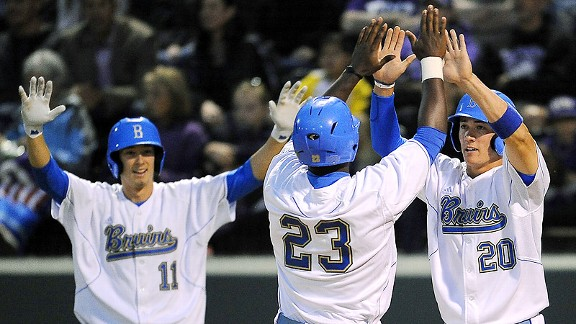 UCLA baseball celebration