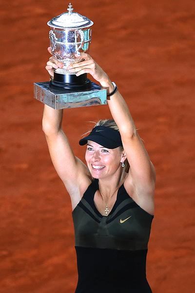 Sharapova on 2012 French Open    Maria Sharapova Wins  Completes Career Grand Slam