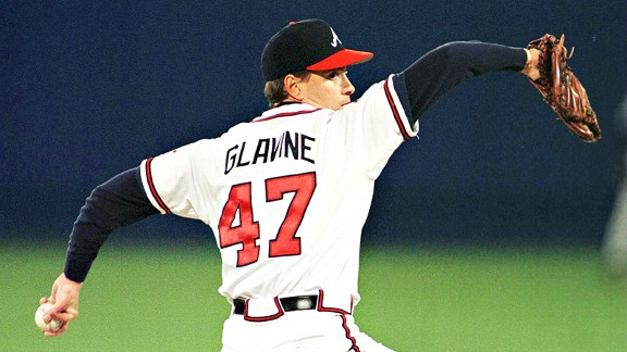 Tom Glavine in the 1995 World Series