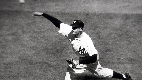 Don Larsen during his perfect game in the 1956 World Series