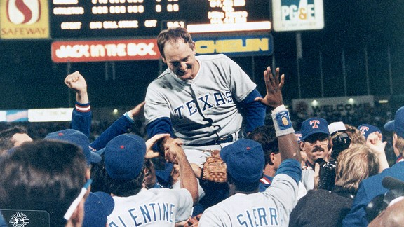 Nolan Ryan after his no-hitter in 1990 against the Oakland Athletics