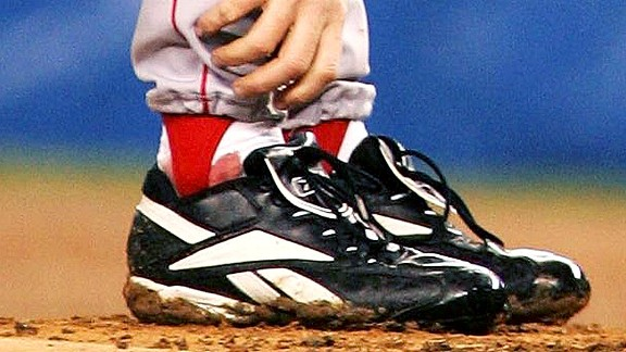 Curt Schilling and the bloody sock in 2004 with the Boston Red Sox