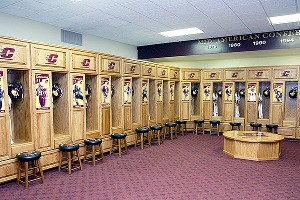 Central Michigan lockerroom