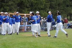 Hamilton celebrates Sam Choate home run