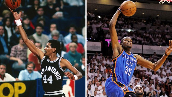 George Gervin and Kevin Durant