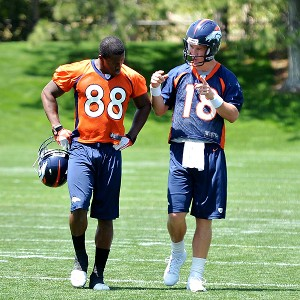 Demaryius Thomas and Peyton Manning