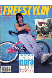 Eddie Fiola on the cover of Freestylin' in 1986.