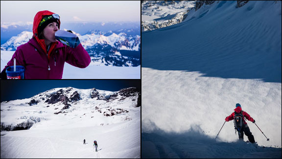 Holly Walker preparing for her push up Alaska's Mt. McKinley.