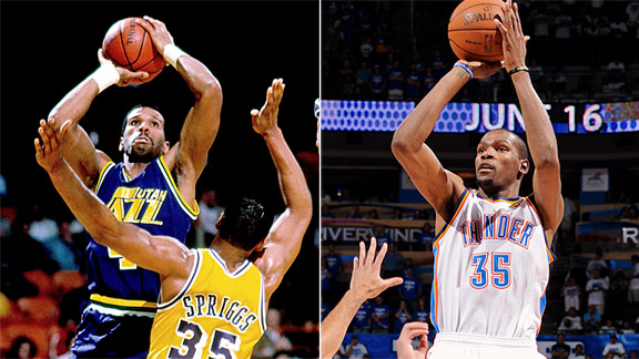 Kevin Durant & Adrian Dantley