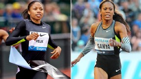 Allyson Felix/Sanya Richards-Ross