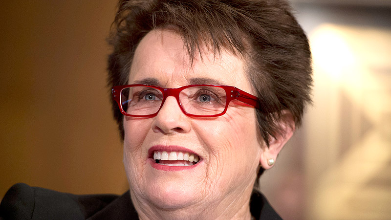 Any salute to American sports royalty has to begin with former tennis star Billie Jean King, who even has her own court.