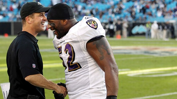 Jim Harbaugh & Ray Lewis