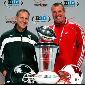 Mark Dantonio and Bret Bielema
