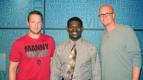 Tomlinson with Van Pelt and Russillo