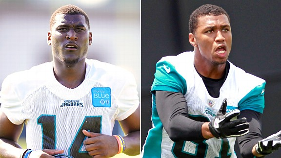 Justin Blackmon and Laurent Robinson