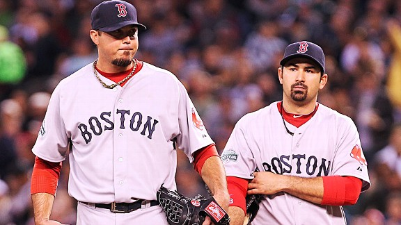Josh Beckett and Adrian Gonzalez