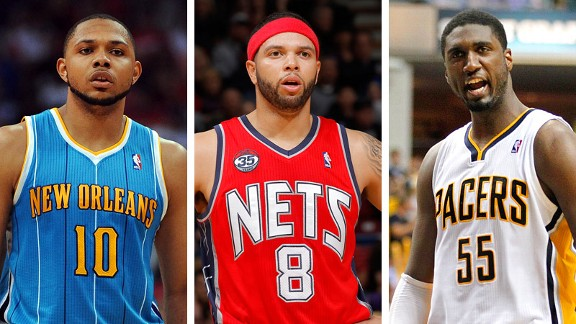 Eric Gordon, Deron Williams, Roy Hibbert