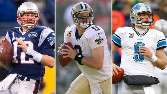 Tom Brady, Drew Brees, Matthew Stafford