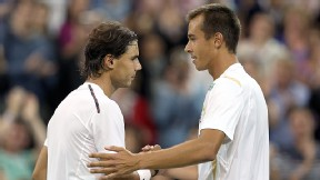 Lukas Rosol and Rafael Nadal