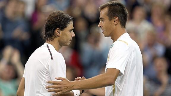 Lukas Rosol and Rafael Nadal