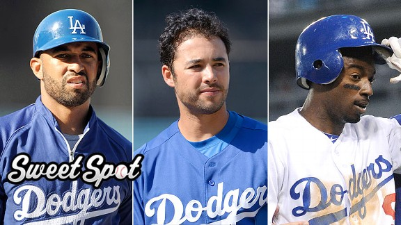 Matt Kemp, Andre Ethier and Dee Gordon