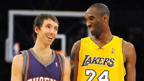 Steve Nash and Kobe Bryant