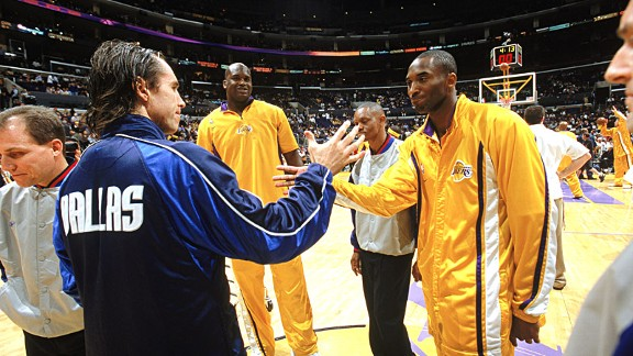 Steve Nash and Kobe Bryant