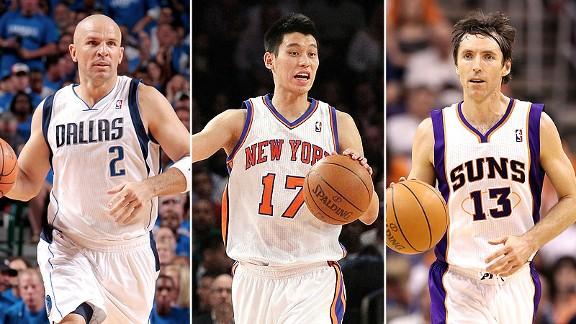 Jason Kidd, Jeremy Lin, and Steve Nash